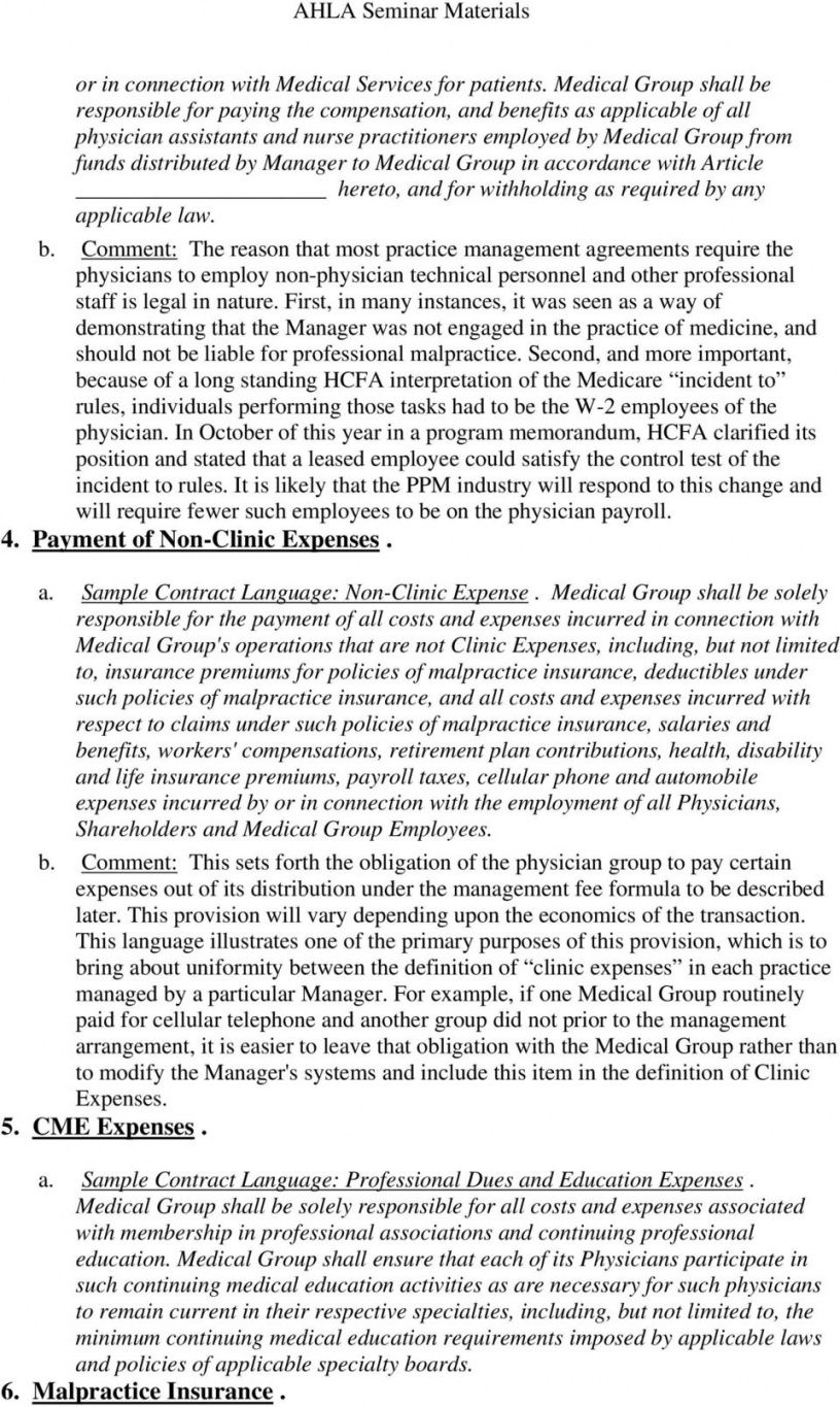 sample contracting physician practice management  pdf free download medical practice management agreement template sample
