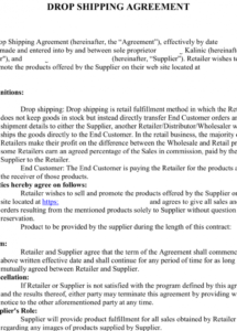 sample my shopify dropshipping journey to $30000month with drop shipping agreement template sample