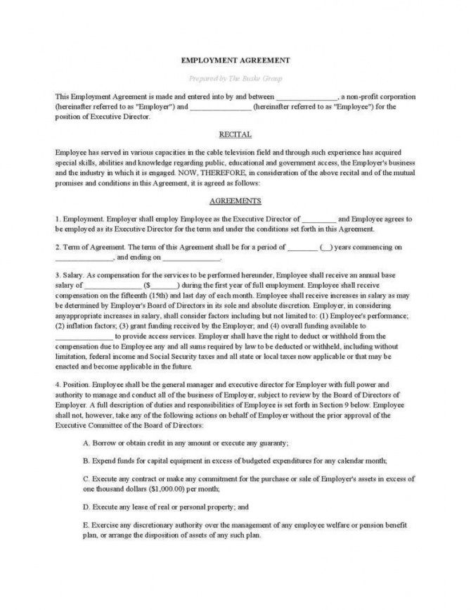 the importance of written business agreements  free non profit employment agreement template