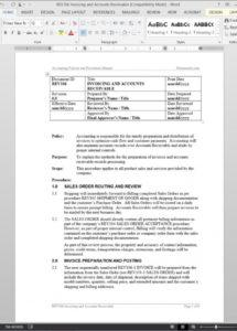 accounts receivable policy template  rev106 accounts receivable policy template word