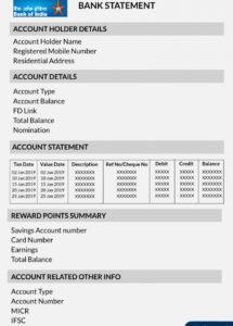 bank of india account statement  format download benefits bank account statement template word