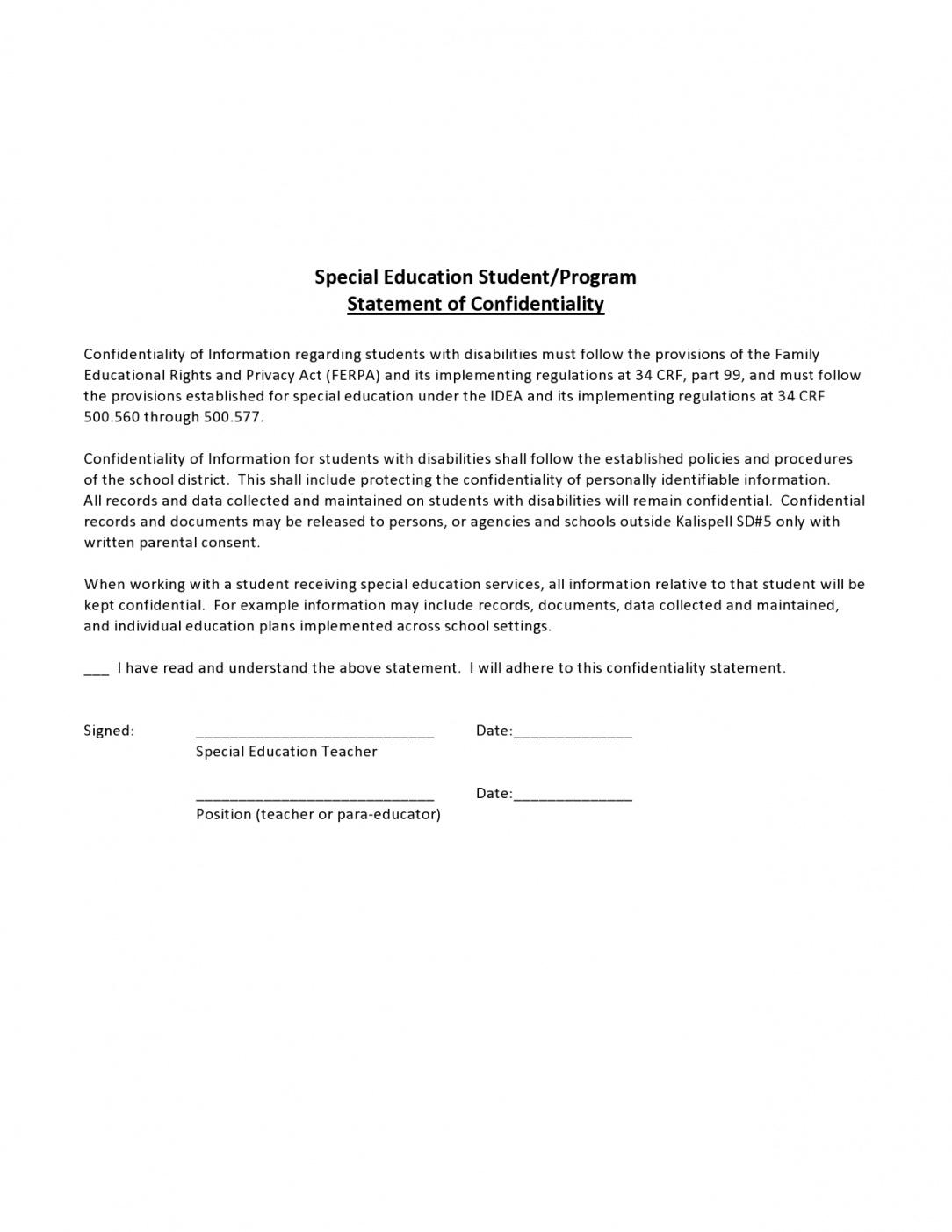 editable 24 simple confidentiality statement & agreement templates confidential statement template doc