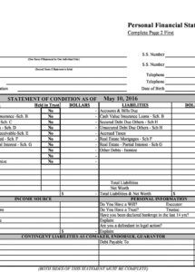 editable 40 personal financial statement templates & forms detailed personal financial statement template doc