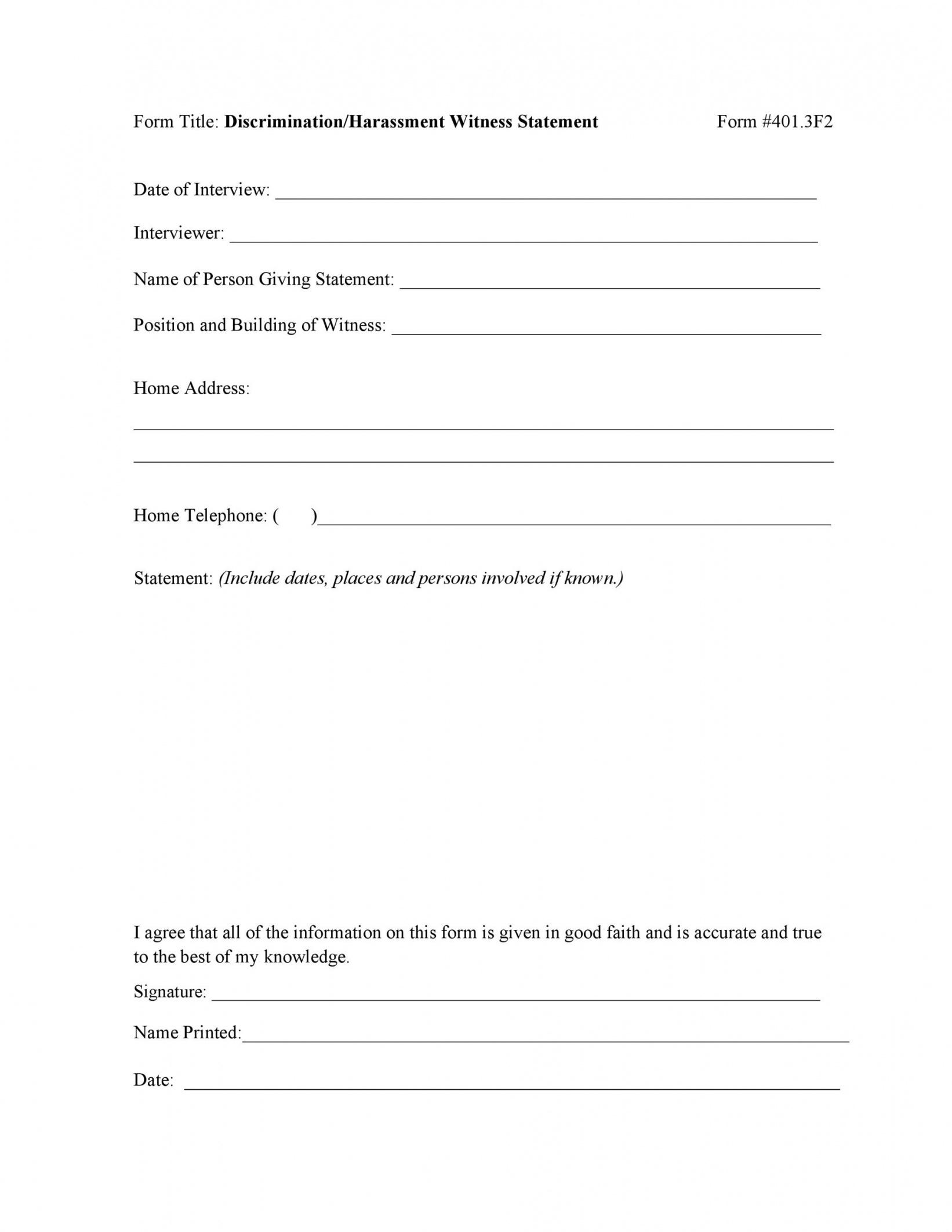editable 50 professional witness statement forms & templates official statement template