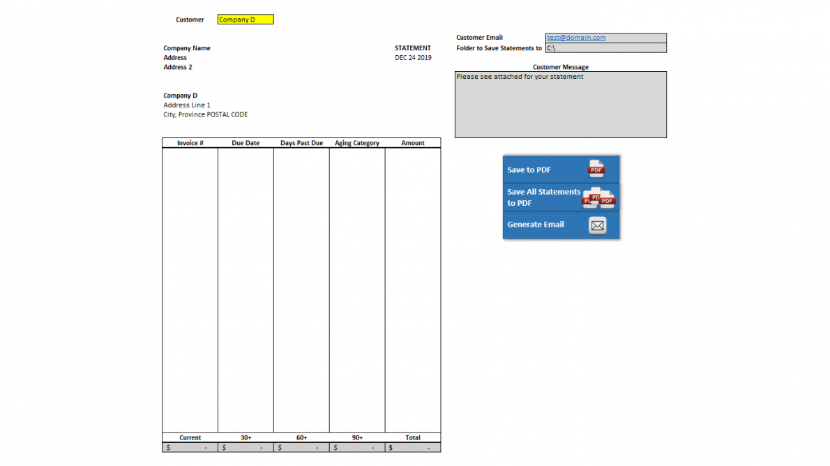 editable accounts receivable statement with vba account receivable statement template sample
