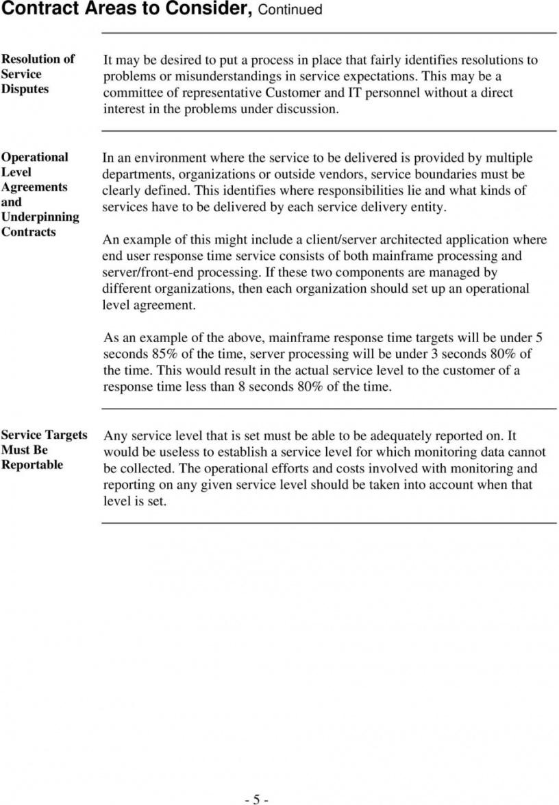 editable building service level agreement contracts a best practices it help desk service level agreement template word