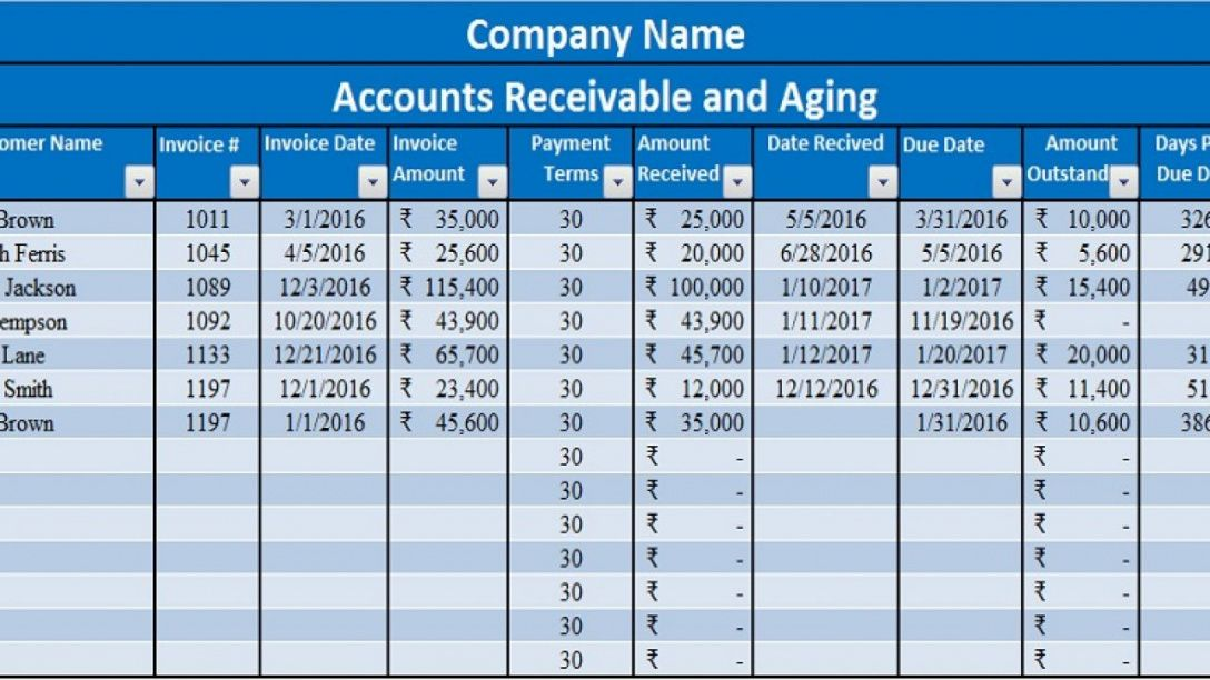 editable download accounts receivable with aging excel template account receivable statement template
