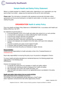 editable free 21 health and safety policy examples in pdf  google restaurant health and safety policy template