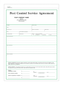 editable pest control service agreement  fill online printable pest control contract proposal template example