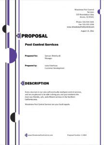 editable pest control services sample proposal  5 steps pest control contract proposal template