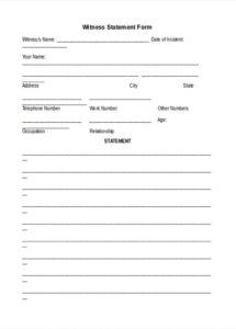 free 18 witness statement forms in pdf  ms word police statement form template example