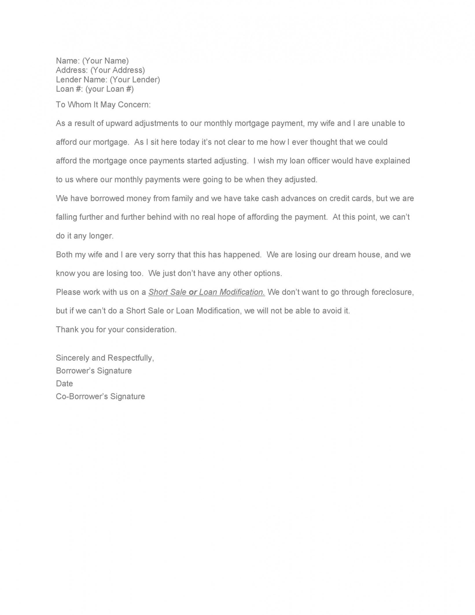 free 35 simple hardship letters financial for mortgage for profit and loss statement template for loan modification doc
