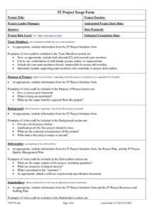 free 43 project scope statement templates & examples  templatelab project management scope statement template pdf