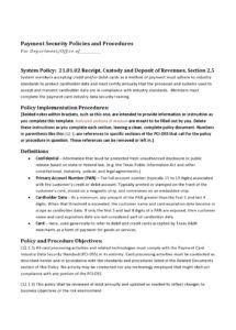 free 50 free policy and procedure templates & manuals credit card security policy template example