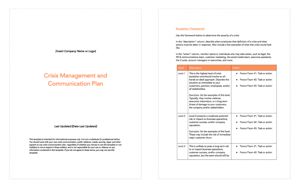 free 6 crisis communication plan examples & how to write your own crisis management policy template excel