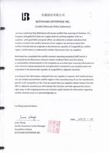 free conflict minerals policy statement conflict minerals policy statement template excel