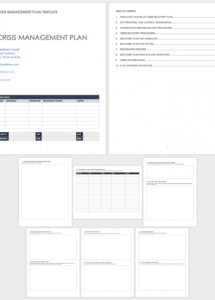 free crisis management templates  smartsheet crisis management policy template excel