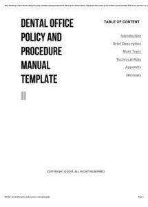 free dental office policy and procedure manual template by zhcne1 office policy manual template sample