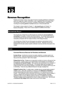 free parish financial manual chapter 12  revenue recognition revenue recognition policy template excel