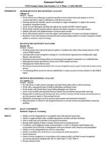 free revenue recognition resume samples  velvet jobs revenue recognition policy template doc