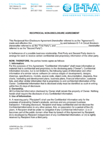 free text nondisclosure agreement form non  manualzz reciprocal non disclosure agreement template