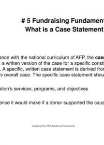 ppt  1 fundraising fundamental case for support fundraising case statement template sample