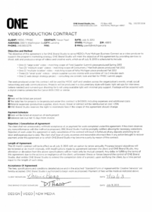 printable 3 free video production contract templates  word excel video production agreement contract template example