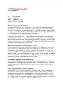 printable 49 professional warning letters free templates  templatelab employee theft policy template excel