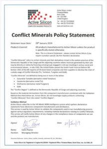 printable certifications and accreditations  active silicon conflict minerals policy statement template excel