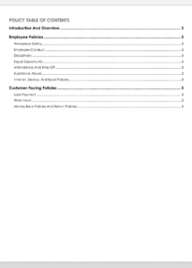 printable free policy and procedure templates  smartsheet office policy manual template word