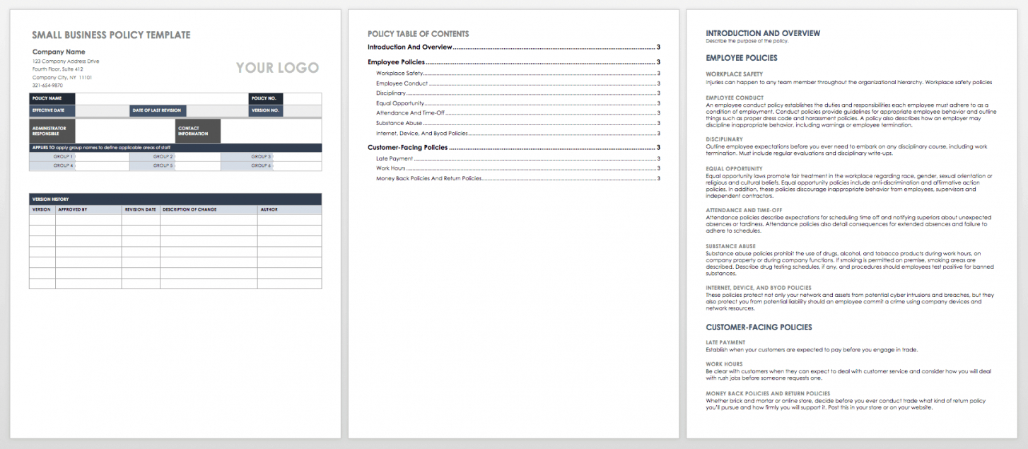Office Policy Manual Template