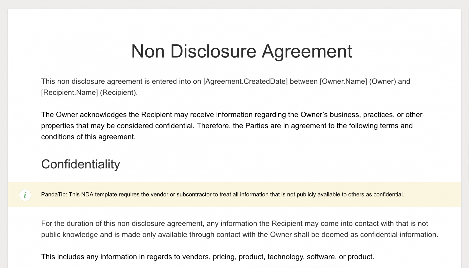 printable sign ndas with pandadoc how to sign non disclosure statement template