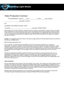 printable template design  adult film production agreement regarding video production agreement contract template sample