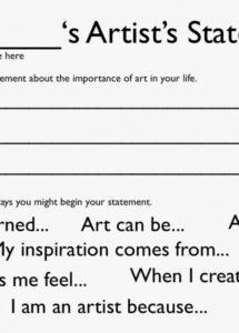 printable the artist statement & why they mostly suck  bmoreart artist statement template