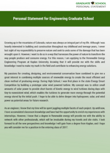 printable writing personal statement for engineering graduate school graduate school personal statement template doc