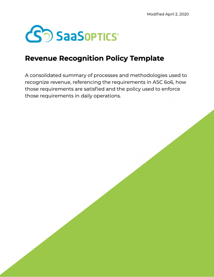 Revenue Recognition Policy Template