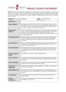sample 43 project scope statement templates & examples  templatelab project management scope statement template word
