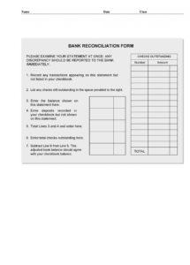 sample 50 bank reconciliation examples & templates 100% free bank statement reconciliation template excel
