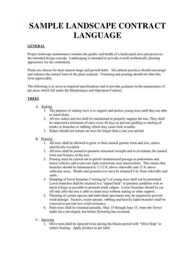 sample 7 landscaping services contract templates  word pdf landscape design contract template example