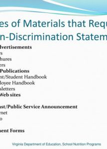sample civil rights training and compliance  ppt download non discrimination statement template pdf