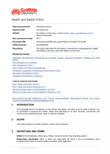 sample free 21 health and safety policy examples in pdf  google restaurant health and safety policy template pdf