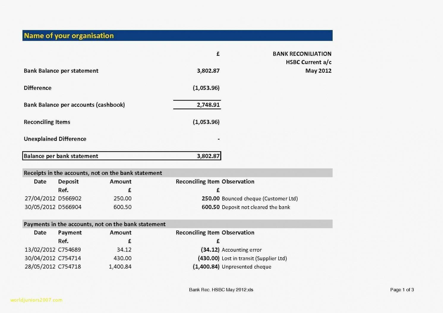sample free bank statement template and trust account bank statement reconciliation template excel