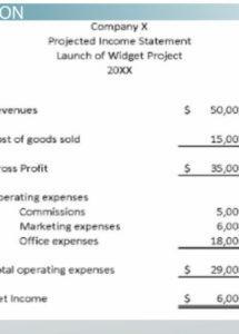 sample projected income example & explanation video projected financial statement template doc