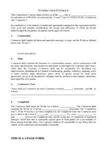 sample uk short form construction contract short form construction contract template example