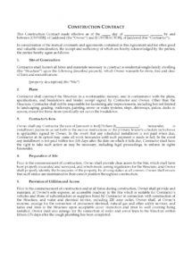 sample usa short form construction contract short form construction contract template example