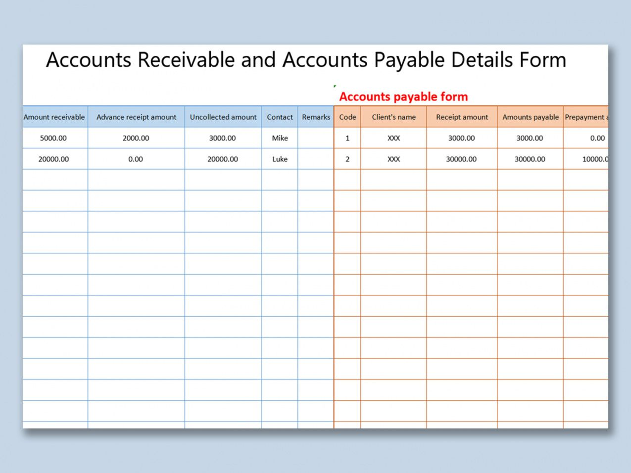sample wps template  free download writer presentation account receivable statement template doc