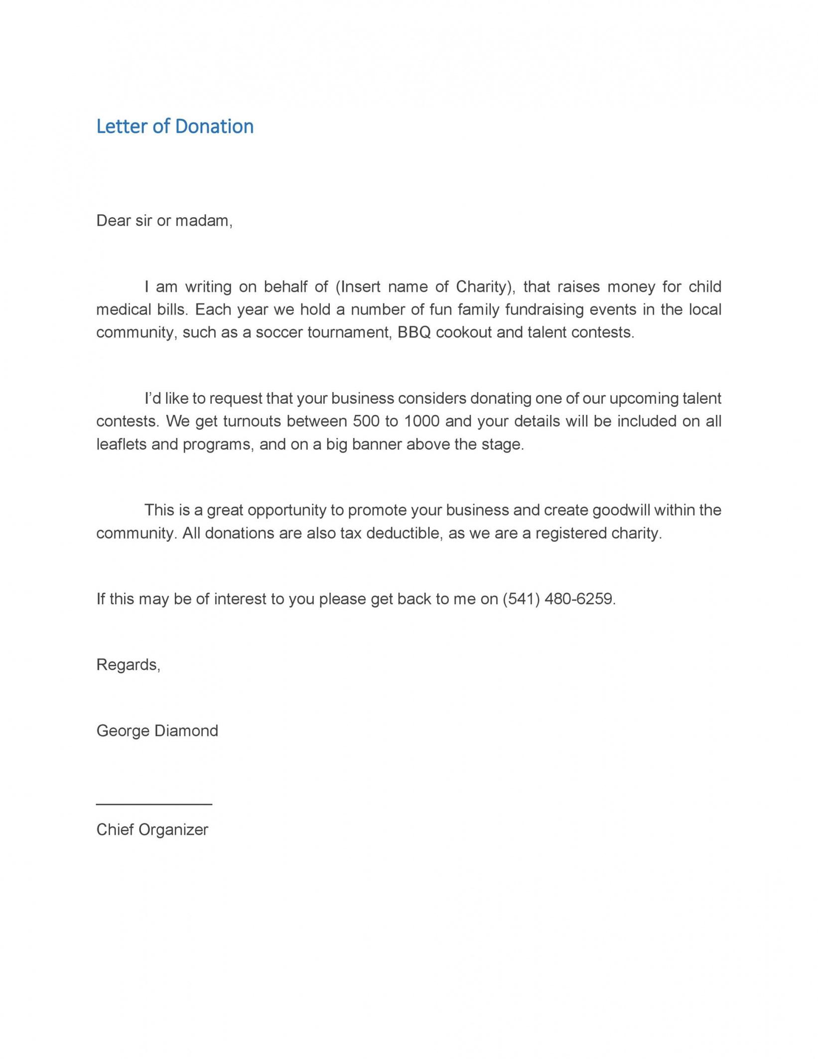 43 free donation request letters & forms  templatelab corporate donation letter template pdf