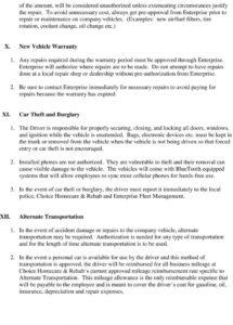 company vehicle policy & fleet management program  pdf free company car allowance policy template example