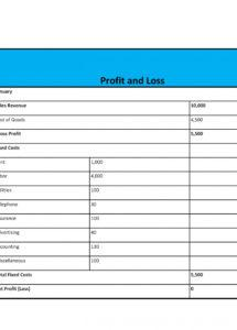 editable 35 profit and loss statement templates & forms simple profit loss statement template sample