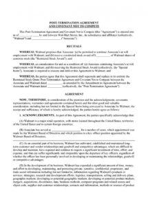 editable 39 readytouse noncompete agreement templates  templatelab no compete contract template doc